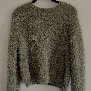 Green Fuzzy Sweater